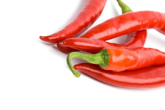 five red chilli peppers
