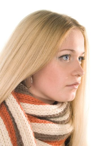 woman in a scarf