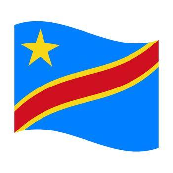 flag of democratic republic congo