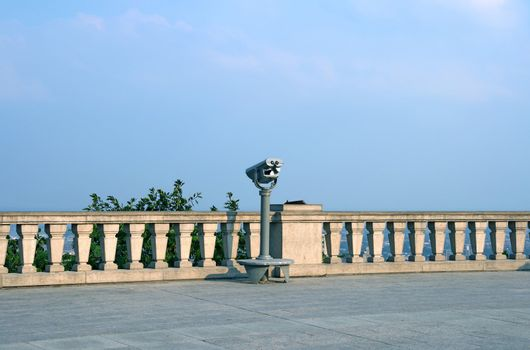 Viewfinder on a touristic site