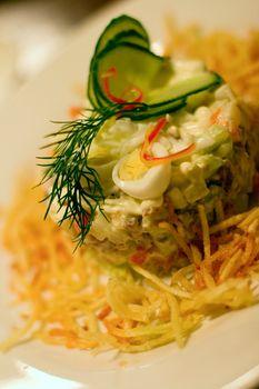 salad in restaurant