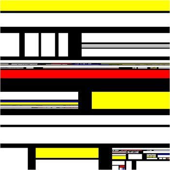Mondrian abstract modern art design pattern background illustration