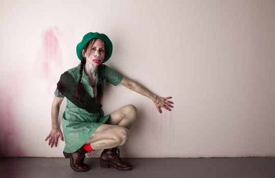 Woman scout zombie