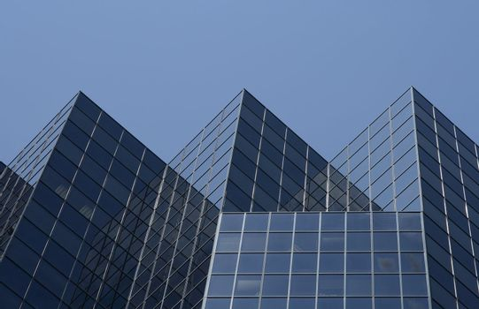 Triangular shape of an office building