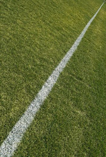 Boundary line of a green playing field