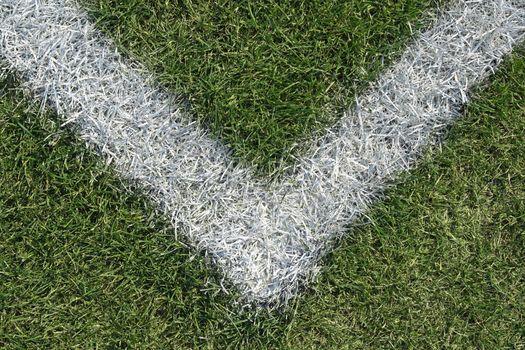 Corner boundary line of a sports field