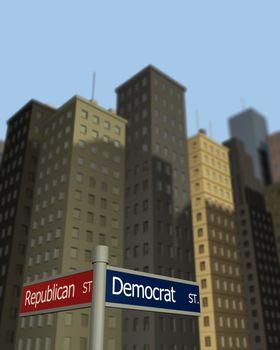 Democrat and Republican Streets
