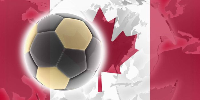 Flag of Canada, national country symbol illustration sports soccer football