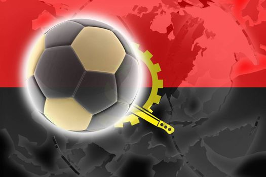 Flag of Angola , national country symbol illustration sports soccer football