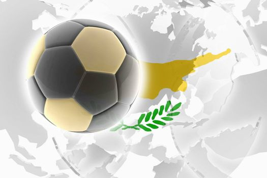 Flag of Cyprus, national symbol illustration clipart sports soccer football