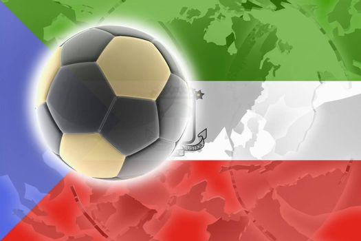 Flag of Equatorial Guinea , national country symbol illustration sports soccer football