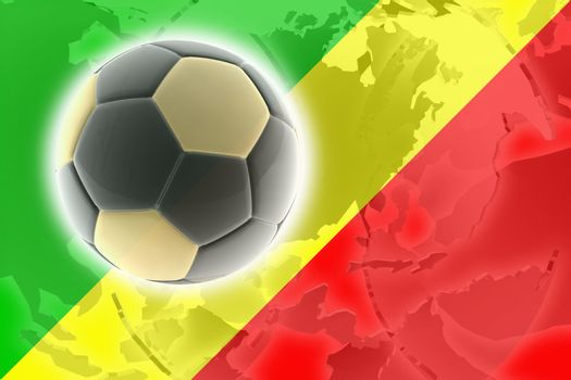 Flag of Congo, national country symbol illustration sports soccer football
