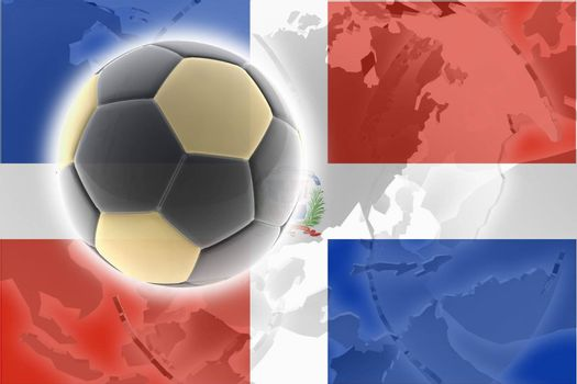 Flag of Dominican Republic, national country symbol illustration sports soccer football
