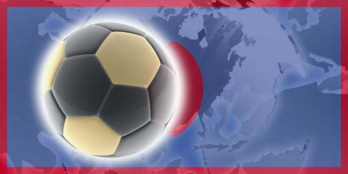 Flag of Guam, national country symbol illustration sports soccer football
