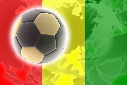 Flag of Guinea, national country symbol illustration sports soccer football