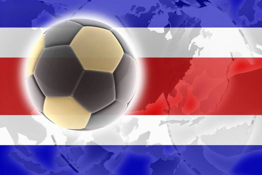 Flag of Costa Rica , national country symbol illustration sports soccer football