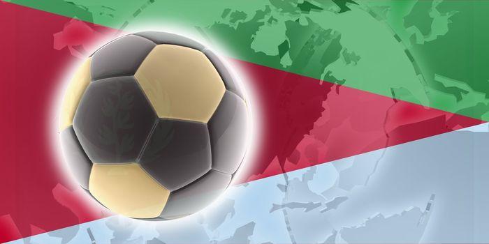 Flag of Eritrea, national country symbol illustration sports soccer football