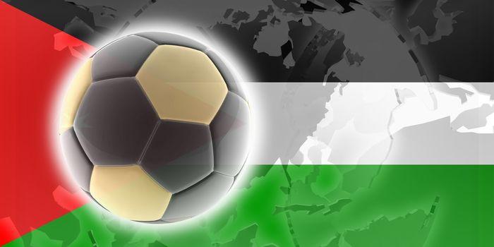 Flag of Jordan, national country symbol illustration sports soccer football