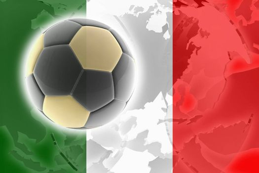 Flag of Italy, national country symbol illustration sports soccer football