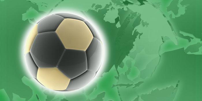 Flag of Libya, national country symbol illustration sports soccer football