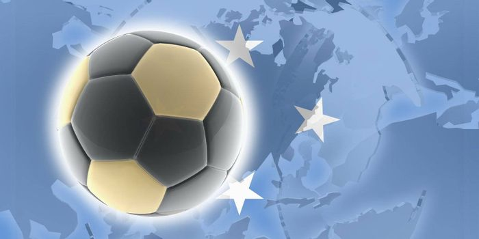 Flag of Micronesia, national country symbol illustration sports soccer football