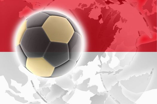 Flag of Indonesia, national country symbol illustration sports soccer football