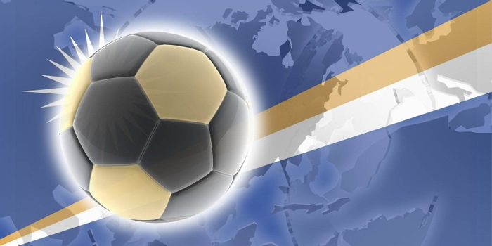 Flag of Marshall Islands, national country symbol illustration sports soccer football