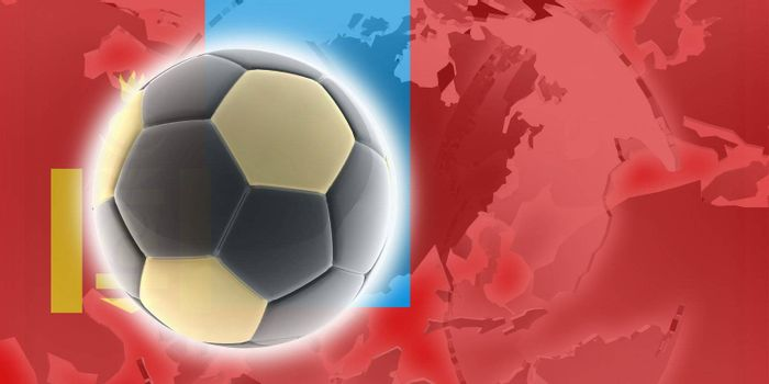 Flag of Mongolia, national country symbol illustration sports soccer football