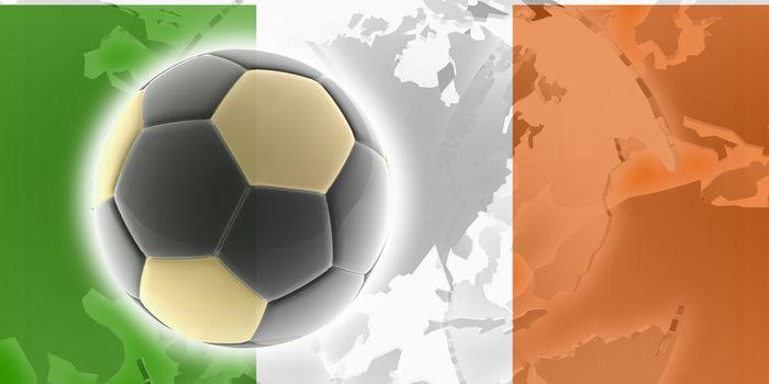 Flag of Ireland, national country symbol illustration sports soccer football