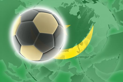 Flag of Mauritania, national country symbol illustration sports soccer football