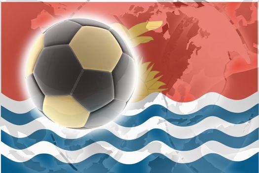 Flag of Kiribati , national country symbol illustration sports soccer football