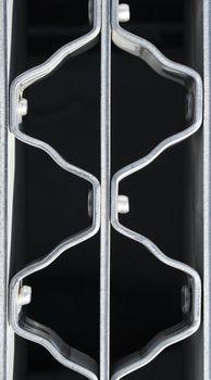 Wavy pattern of a metal grate