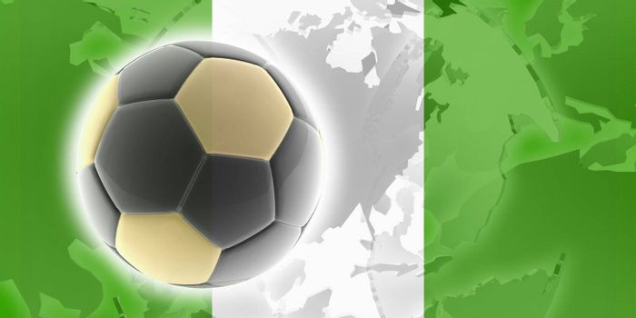 Flag of Nigeria, national country symbol illustration sports soccer football