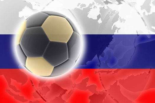 Flag of Russia, national country symbol illustration sports soccer football