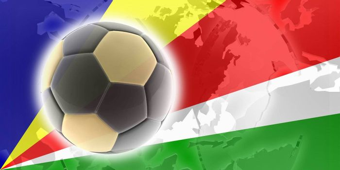 Flag of Seychelles, national country symbol illustration sports soccer football