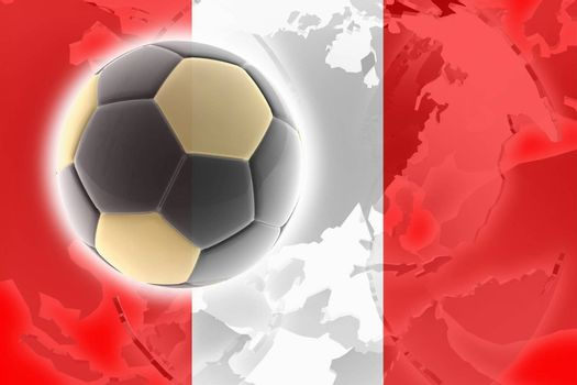 Flag of Peru, national country symbol illustration sports soccer football