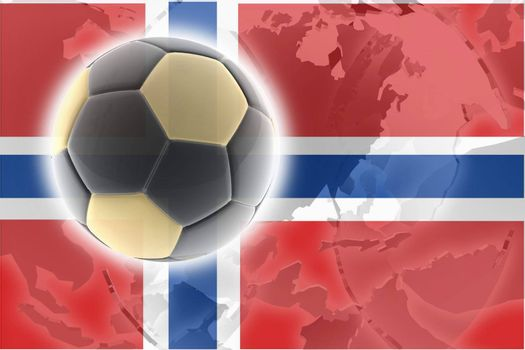 Flag of Norway, national country symbol illustration sports soccer football