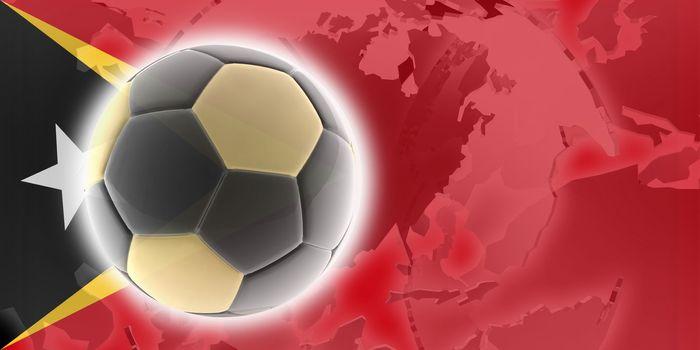 Flag of Timor-Leste, national country symbol illustration sports soccer football