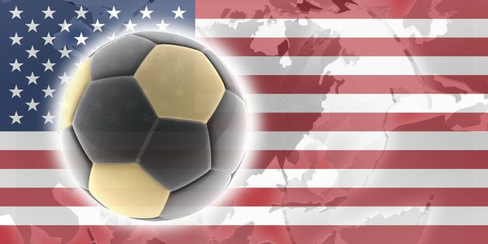 Flag of United States of America, national country symbol illustration sports soccer football