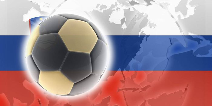 Flag of Slovenia, national country symbol illustration sports soccer football