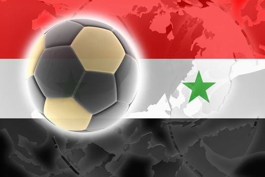 Flag of Syria, national country symbol illustration sports soccer football