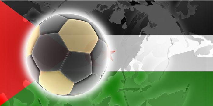Flag of Western Sahara, national country symbol illustration sports soccer football