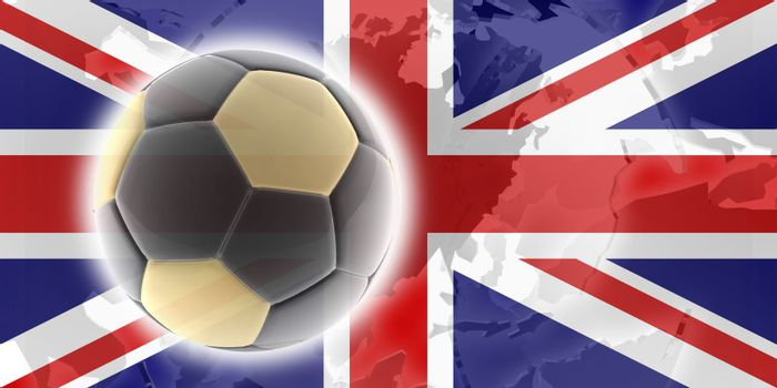 Flag of United Kingdom, national country symbol illustration sports soccer football
