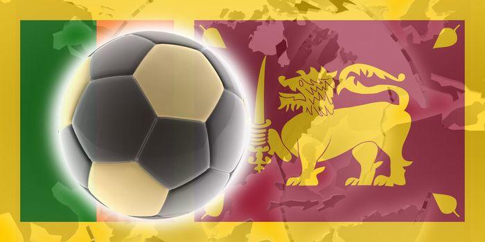 Flag of Sri Lanka, national country symbol illustration sports soccer football