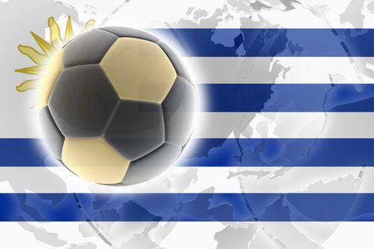 Flag of Uruguay, national country symbol illustration sports soccer football