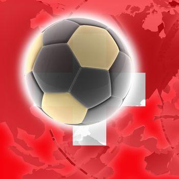 Flag of Switzerland, national symbol illustration clipart sports soccer football