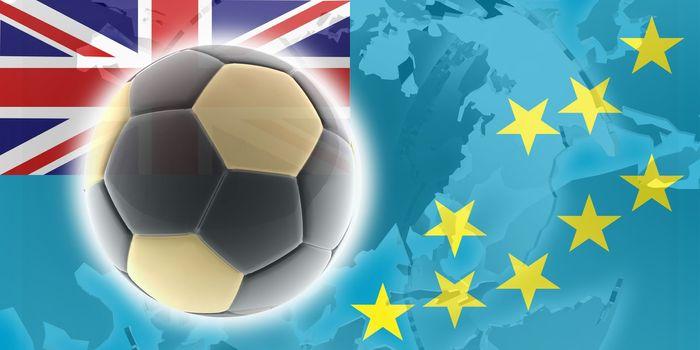 Flag of Tuvalu, national country symbol illustration sports soccer football