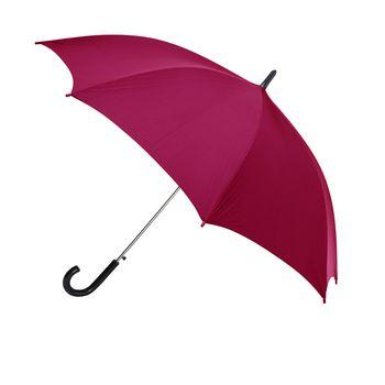 Red umbrella against white background