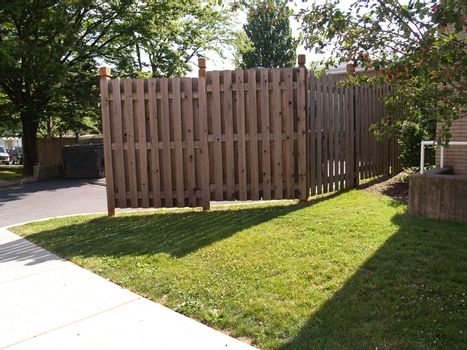 tall wooden outdoor fence