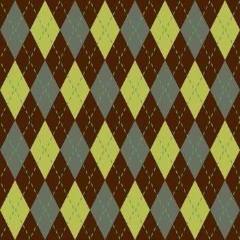 Argyle knit pattern seamless tiling background texture
